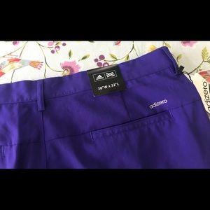Adidas mens NWT adizero golf pants 38 32 purple